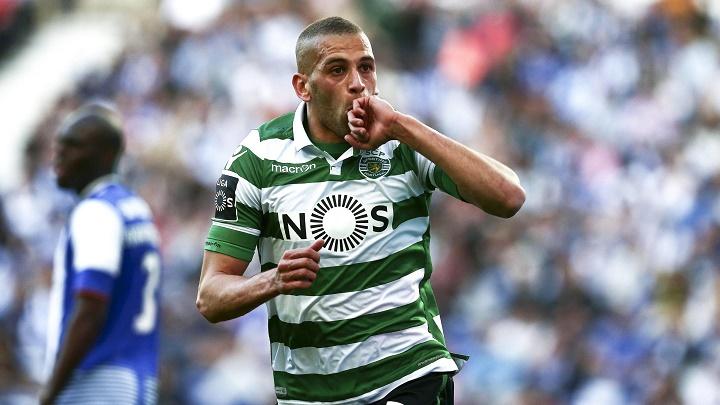Islam Slimani celebrando un gol