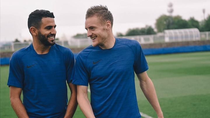 Jamie Vardy y Riyad Mahrez
