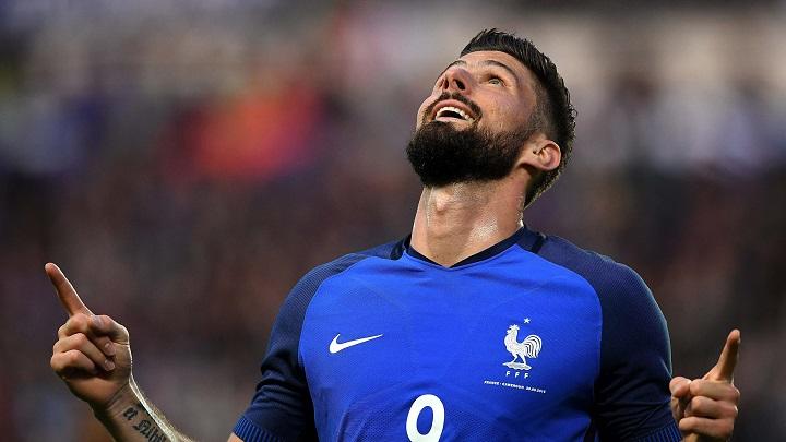 Olivier Giroud celebrando un gol