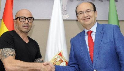 Sampaoli y Jose Castro
