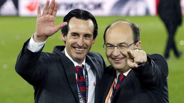 Unai Emery y Jose Castro