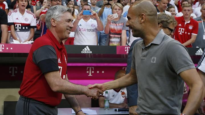 Ancelotti y Guardiola