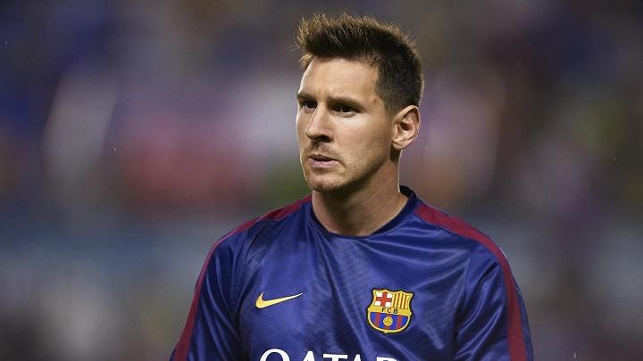 Leo Messi calentamiento
