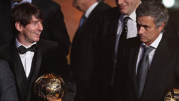Messi y Mourinho