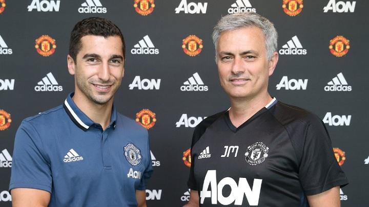 Mkhitaryan y Mourinho