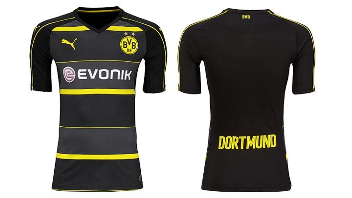 Segunda equipacion Borusia Dortmund 2016-2017 6