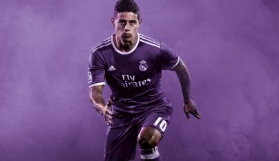 Segunda equipacion Real Madrid 2016-2017 James