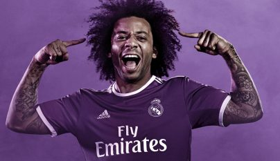 Segunda equipacion Real Madrid 2016-2017 Marcelo