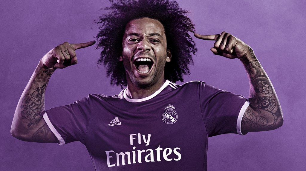 segunda equipacion real madrid 2016 2017 marcelo