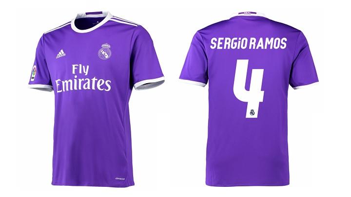 camiseta Real Madrid 2016-2017 Sergio Ramos