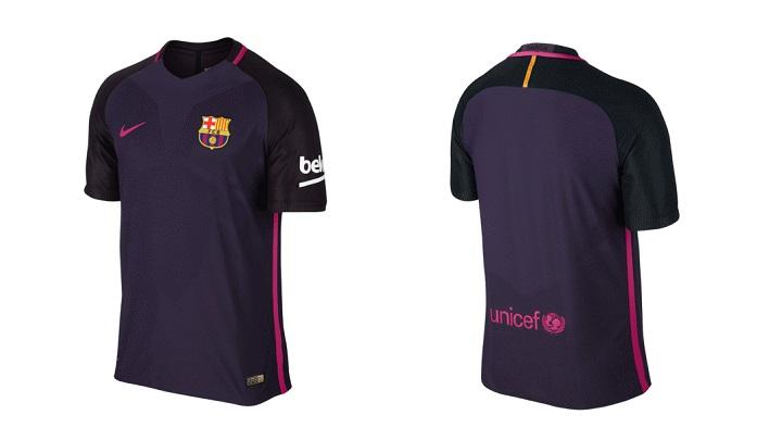 segunda camiseta FC Barcelona 2016-2017