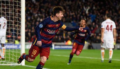 Leo Messi gol Roma