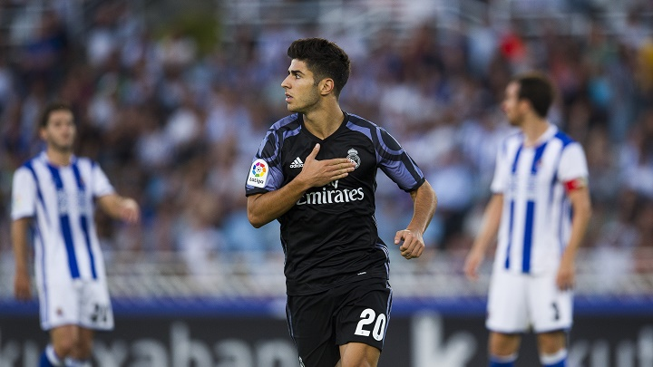 Marco Asensio celebrando un gol