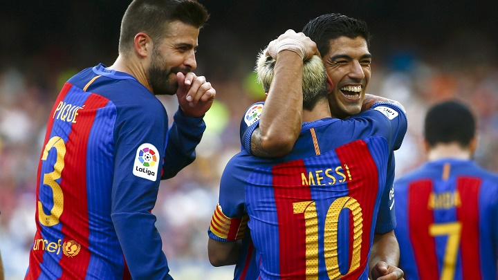 Messi Suarez Pique