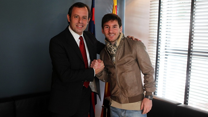 Rosell y Messi
