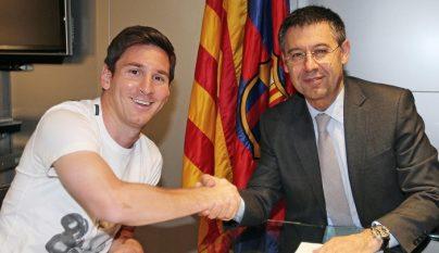 Messi y Baromeu