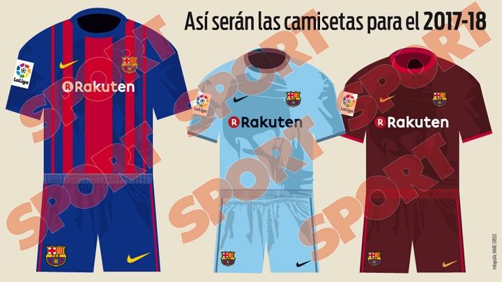Equipaciones Barça 2017-2018