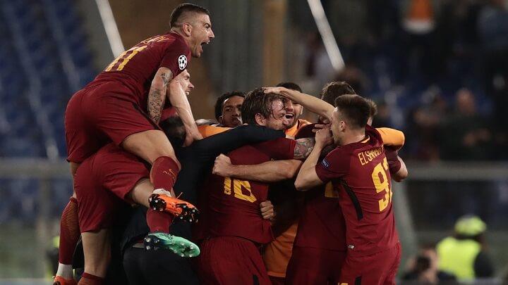 jugadores-Roma-celebrando